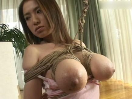 【おっぱい】紐などで縛られてしまっておっぱいが強調されてるエロ画像ww【30枚】