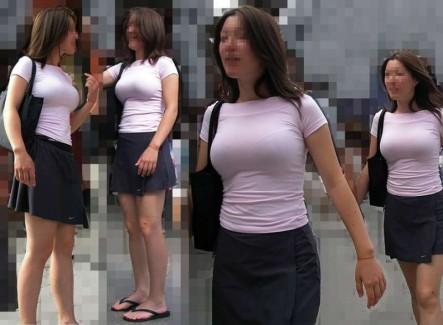 【おっぱい】着衣巨乳のお姉さんを我慢できず盗撮したエロ画像!【30枚】