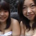 【おっぱい】初めての混浴温泉で赤面エロエロ交渉!?湯けむりナンパされちゃう素人娘たちのおっぱい画像がエロすぎる!【30枚】