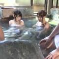 【エロ動画】友達と温泉旅行にきた上原保奈美が混浴風呂で目をつけられて浴衣セックス!【上原保奈美】