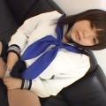 【エロ動画】童顔で清純そうなJKがルーズソックスのままローターオナニーでイく!【永瀬あき】