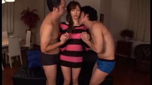 【エロ動画】自称早漏の見覚えのある男優さん二人とロングセックスする絵色千佳!【絵色千佳】