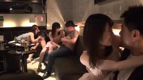 【エロ動画】ツーショットキャバクラでギリギリまで攻めて本番まで!w【素人】