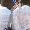 【おっぱい】素人お嬢さんが薄着や汗でブラジャー透け透けになったところを盗撮されてるブラジャー透け透けのおっぱい画像集!w【80枚】